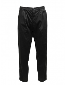 Mens trousers online: Cellar Door Modlu black trousers for man