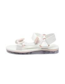 Melissa Papete + Rider white and pink sandals