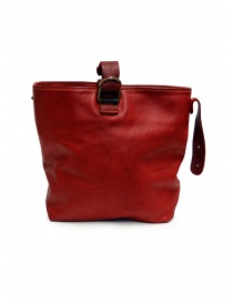 Borse online: Guidi WK06 borsa a secchiello in pelle di cavallo rossa