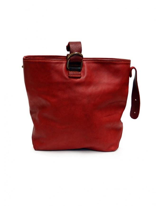 Guidi WK06 borsa a secchiello in pelle di cavallo rossa WK06 SOFT HORSE FULL GRAIN 1006T borse online shopping
