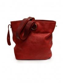 Guidi WK06 borsa a secchiello in pelle di cavallo rossa