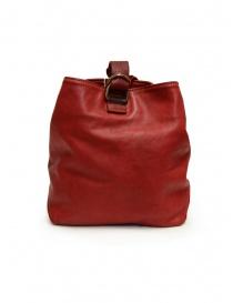 Guidi WK06 borsa a secchiello in pelle di cavallo rossa borse acquista online