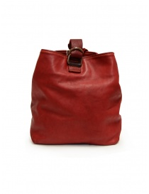 Guidi WK06 bucket bag in red horse leather bags buy online