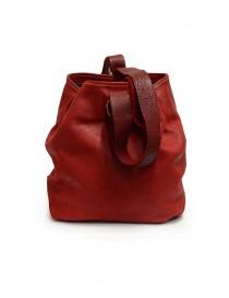Guidi WK06 borsa a secchiello in pelle di cavallo rossa borse prezzo
