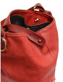 Guidi WK06 borsa a secchiello in pelle di cavallo rossa acquista online prezzo