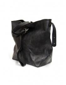 Guidi WK07 black horse leather tote bag