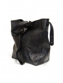 Guidi WK07 tote bag in pelle cavallo nera