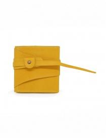 Guidi RP01 portafoglio quadrato giallo online