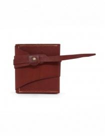 Guidi RP01 portafoglio quadrato rosso online
