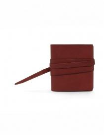Guidi RP01 portafoglio quadrato rosso
