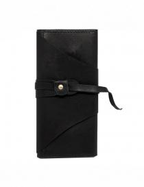 Guidi RP03 portafoglio nero in pelle con fusciacca online