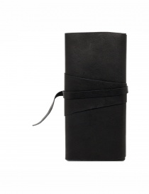 Guidi RP03 black leather wallet with sash