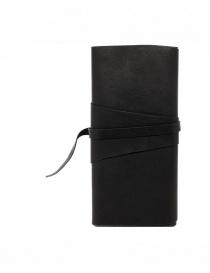 Guidi RP03 portafoglio nero in pelle con fusciacca
