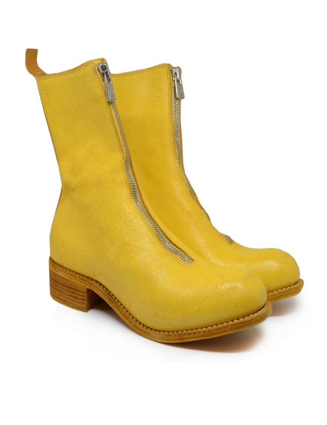 Guidi PL2 Coated yellow horse leather boots PL2 COATED N_CO07 womens shoes online shopping