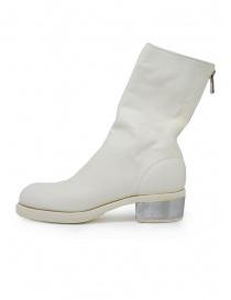 Guidi 788ZI stivali bianchi in pelle con tacco in metallo