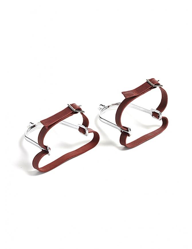 Red Foal speroni in acciaio con lacci in pelle SPERONE gadget online shopping