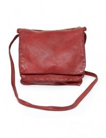 Borse online: Guidi PKT03M borsello rosso in pelle di canguro