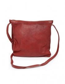 Guidi PKT03M borsello rosso in pelle di canguro