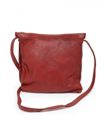 Guidi PKT03M red kangaroo leather bag