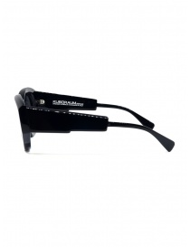Kuboraum occhiali B5 in acetato nero lucido