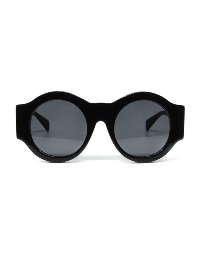 Kuboraum A5 BS occhiali tondi neri A5 50-21 BS 2GRAY occhiali online shopping