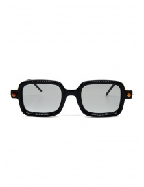 Glasses online: Kuboraum P2 BS black and cream rectangular sunglasses