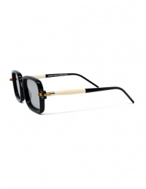 Kuboraum P2 BS occhiali rettangolari neri e crema
