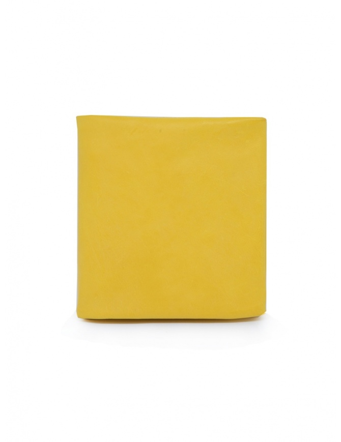 Guidi B7 CO07T wallet in yellow leather B7 KANGAROO FG CO07T wallets online shopping