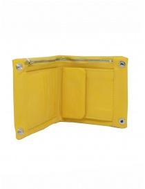 Guidi portafogli B7 CO07T in pelle gialla