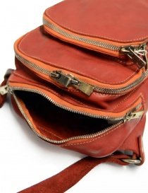 Guidi BR02 small backpack in red leather bags buy online