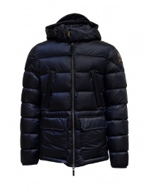 Parajumpers Greg blue hooded down jacket online