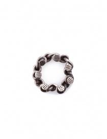 Guidi anello con teste di chiodi in argento online