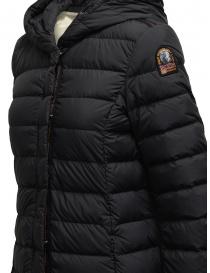 Parajumpers Omega long matte black down jacket womens coats buy online