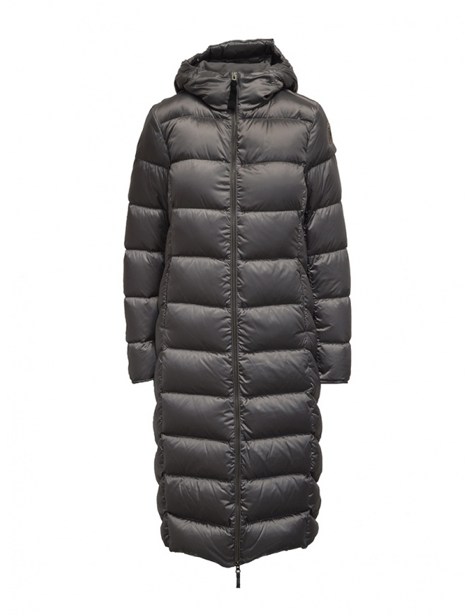 Parajumpers Leah long grey down jacket with hood PWJCKSX33 LEAH ROCK 767 womens coats online shopping