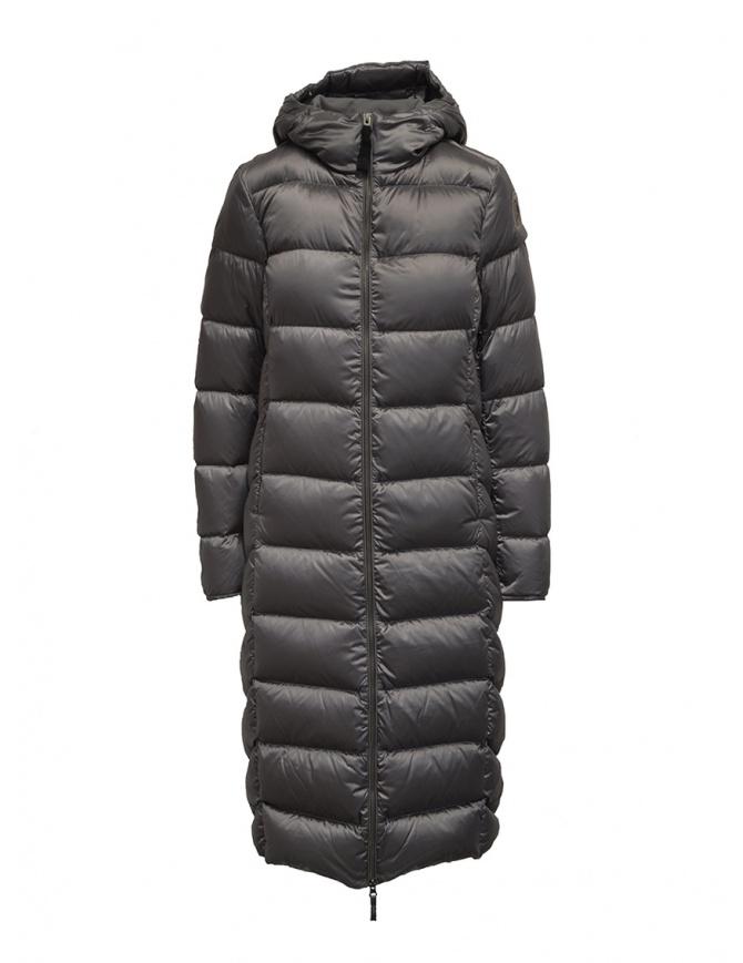 Parajumpers Leah piumino lungo grigio con cappuccio PWJCKSX33 LEAH ROCK 767 cappotti donna online shopping