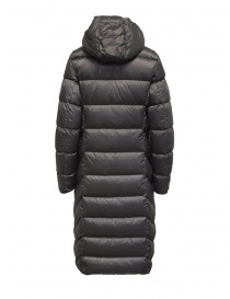 Parajumpers Leah long grey down jacket with hood price
