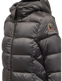 Parajumpers Leah long grey down jacket with hood