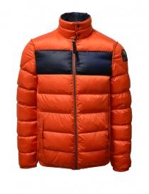 Mens jackets online: Parajumpers Jackson Reverso blue orange down jacket