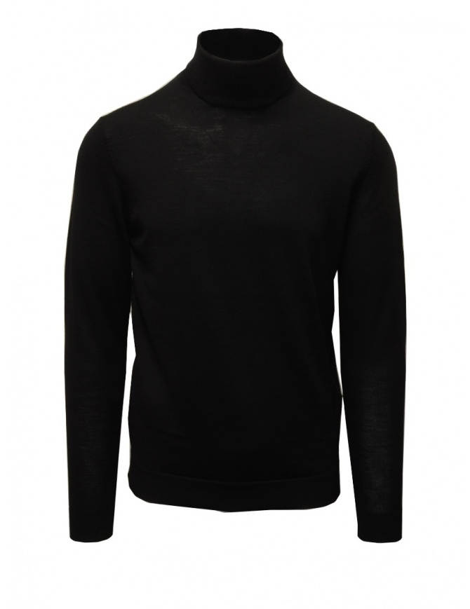 Selected black merino wool turtleneck 16075983 BLACK mens knitwear online shopping