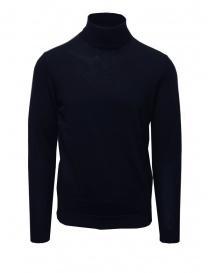 Selected maglia dolcevita in lana merino blu online