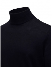 Selected navy blue turtleneck sweater in merino wool