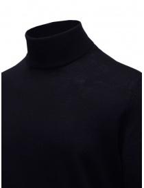 Selected navy blue turtleneck sweater in merino wool