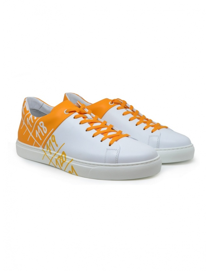Il Centimetro Ambition yellow and white sneakers YELLOW CAMO AMBITION mens shoes online shopping