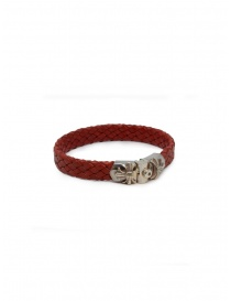 Jewels online: ElfCraft Meteorite braided leather and silver bracelet