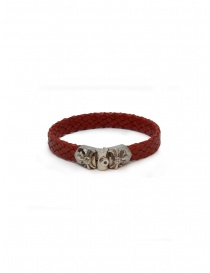ElfCraft Meteorite braided leather and silver bracelet