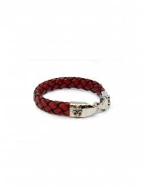Jewels online: ElfCraft bracelet in woven red leather
