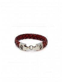 ElfCraft bracelet in woven red leather