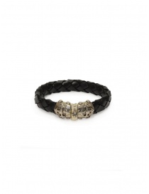 ElfCraft bracelet in black braided leather online
