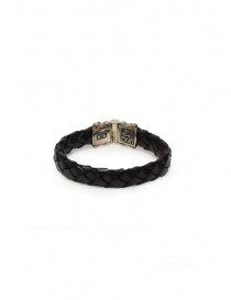 ElfCraft bracelet in black braided leather