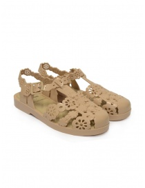 Womens shoes online: Melissa + Viktor & Rolf Possession sandals Lace Irish beige